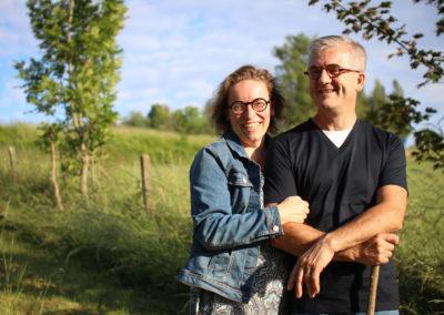 Vincianne et Hervé reliés à la nature