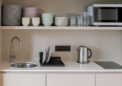 La salle Créativité bénéficie d'une kitchenette
